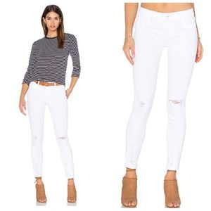 DL1961 Margaux Wilder White Ankle Skinny Jeans